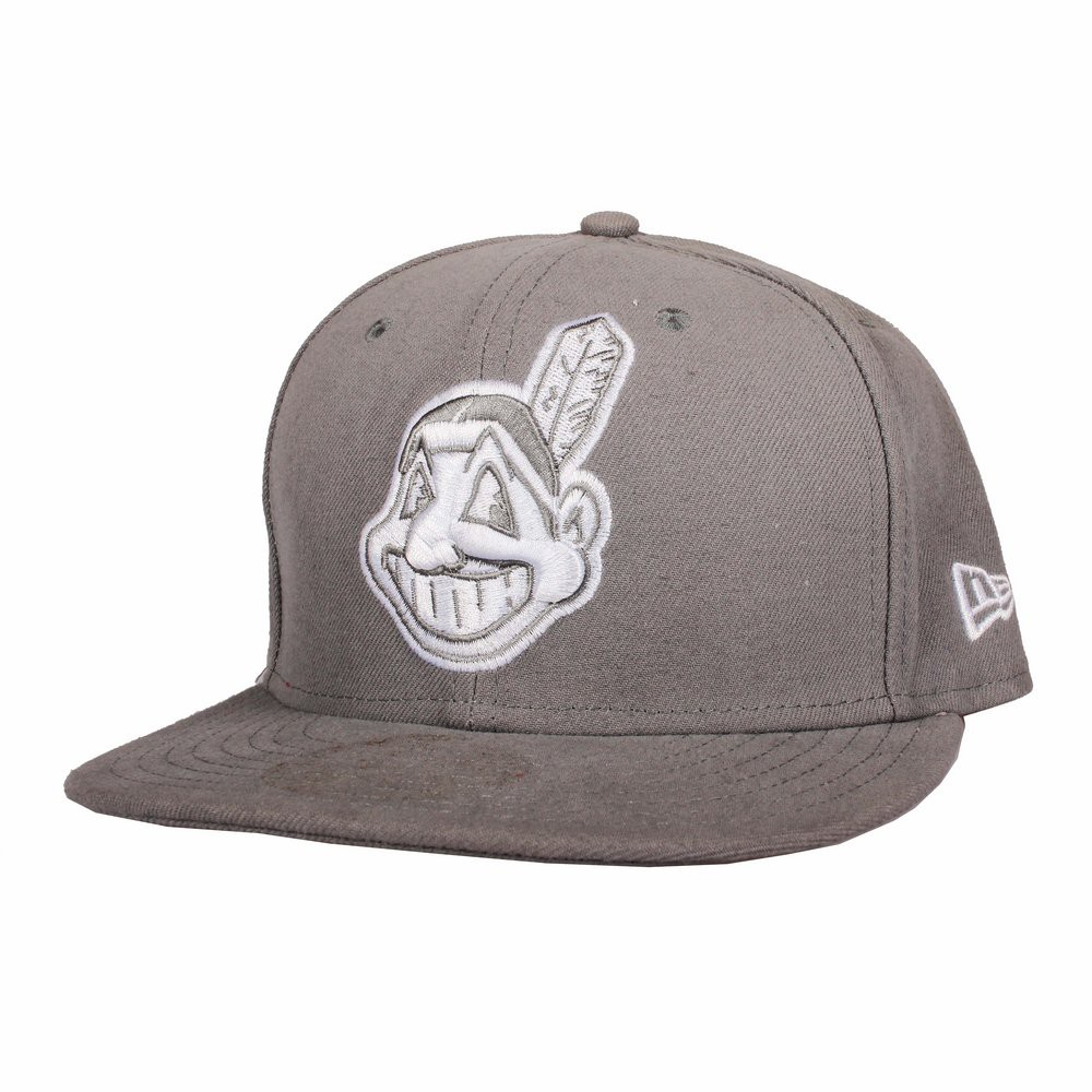 Kšiltovka NEW ERA Cleveland Indians   grey white 966eddc60a
