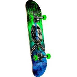 Powell Peralta - Powell Peralta Skull and Sword Storm Complete Skateboard Green/Blue - 7.88