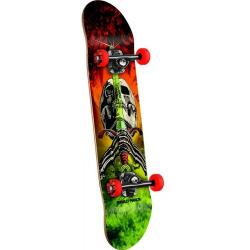 Powell Peralta - Powell Peralta Skull and Sword Storm Complete Skateboard Red/Lime - 7.5