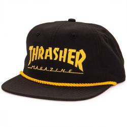 Thrasher - Kšiltovka Thrasher Rope Black / Yell.
