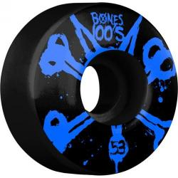 Bones Wheels - Kolečka BONES 100's Black 53mm