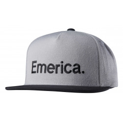 Kšiltovka EMERICA Pure / grey/black