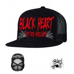 Kšiltovka BLACK HEART Red Hooligan Trucker / black