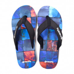 Žabky MEATFLY Sandals Watercolor / blue check