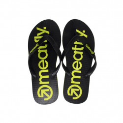 Žabky MEATFLY Brand B / black/lime