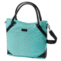 Taška MEATFLY Insanity 2 Ladies Bag,D-Rainbow Dot/mint print
