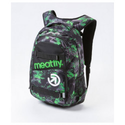 Batoh MEATFLY Exile Backpack,D- Tilt Green Print/black