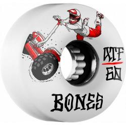 Bones Wheels - BONES ATF SEG Cross 60x37 Skateboard Wheel 80a 4pk