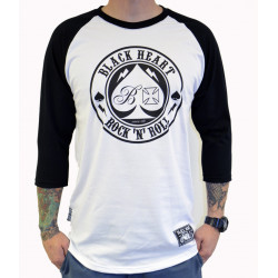 Pánské triko BLACK HEART Ace of Spades Raglan / white