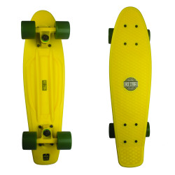 Plastový cruizer RED STORM Pennyboard skate komplet / yellow/yellow/green