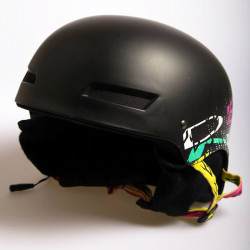 Snowboardová helma DEMON LID Audio / black