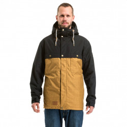 Pánská bunda MEATFLY Dandy Parka / black / ochre heather