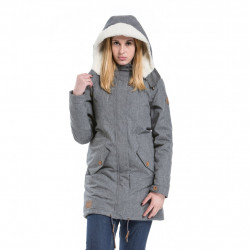 Dámská bunda MEATFLY Mia Parka / grey heather