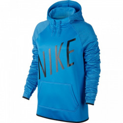 Dámská mikina NIKE THERMA PULL OVER GRAPHIC / blue-black