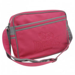 Taška LONSDALE FLUORESCENT FLIGHT BAG / charcoal-pink