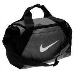 Taška NIKE BRASILIA XS GRIP DUFFLE BAG / grey-black