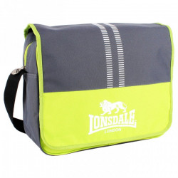 Taška LONSDALE MESSENGER BAG / charcoal-lime