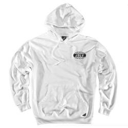 JSLV - JSLV mikina GLOBAL PULLOVER FLEECE- WHITE