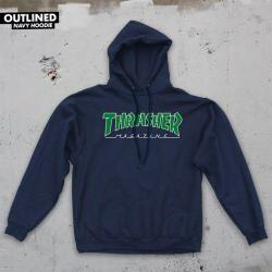 Thrasher - Mikina Thrasher Outlined Holiday 2018