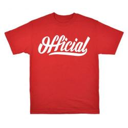 Official - Triko Official SKATE TEE RED