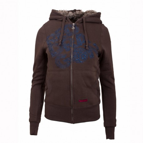 Dámská mikina RED DRAGON Tilly Zip / brown