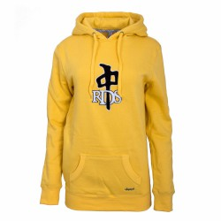 Dámská mikina RED DRAGON Wo Og Chenille Hood / yellow/black